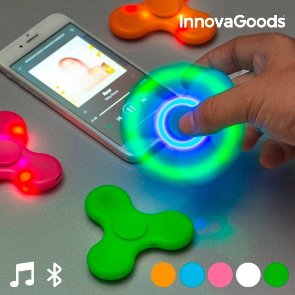 Spinner LED cu Boxă și Bluetooth InnovaGoods