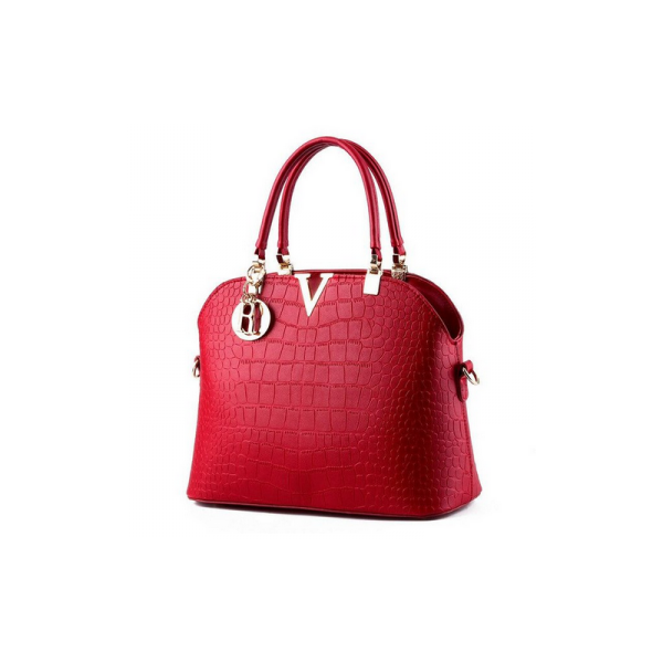 GEANTA DAMA GD054 LONDON V-SHAPED SIMPLE RED