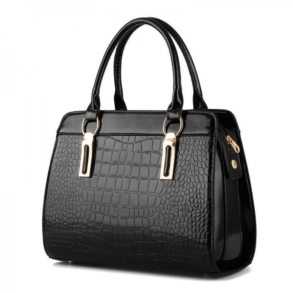 GEANTA DAMA GD226 LONDON CROCO GLASSED BLACK
