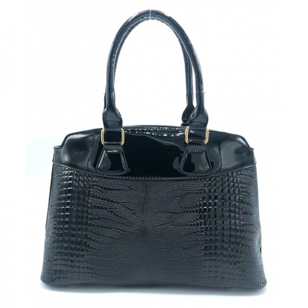 GEANTA DAMA GD483 LONDON DR CROCO VELVET BLACK