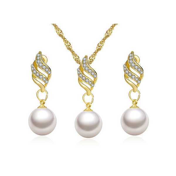 Set Bijuterii ST51 Long Clean Pearls