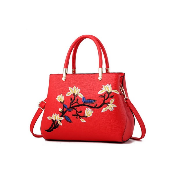 Geanta Dama GD124 London Flower Passion Red