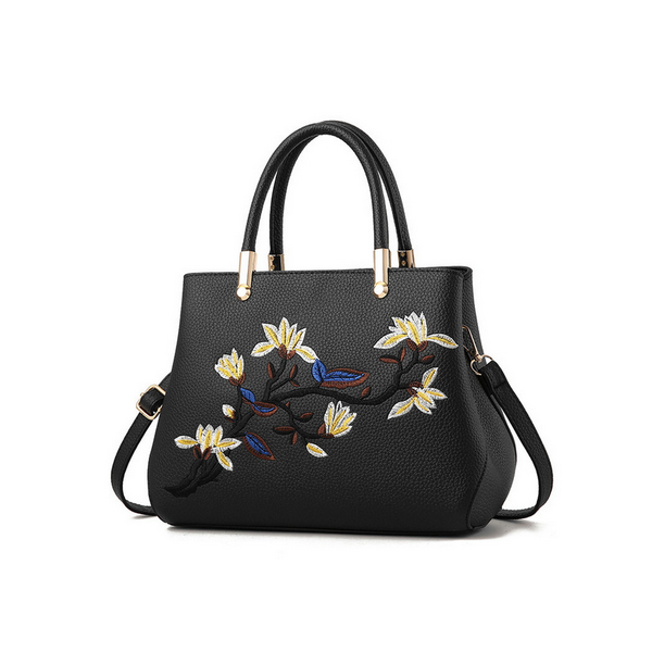 Geanta Dama GD127 London Flower Passion Black