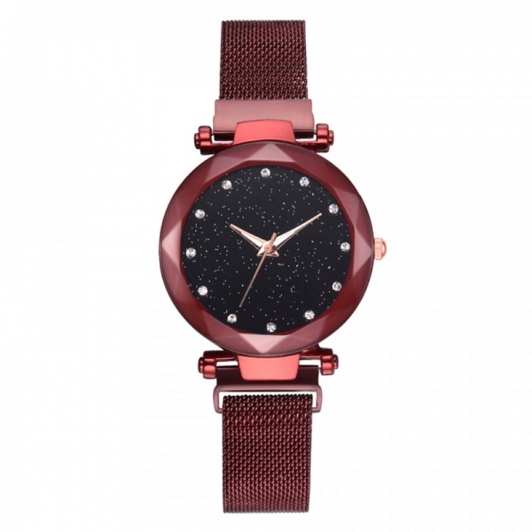 Ceas Lux01 Luxary Diamond Lady Red