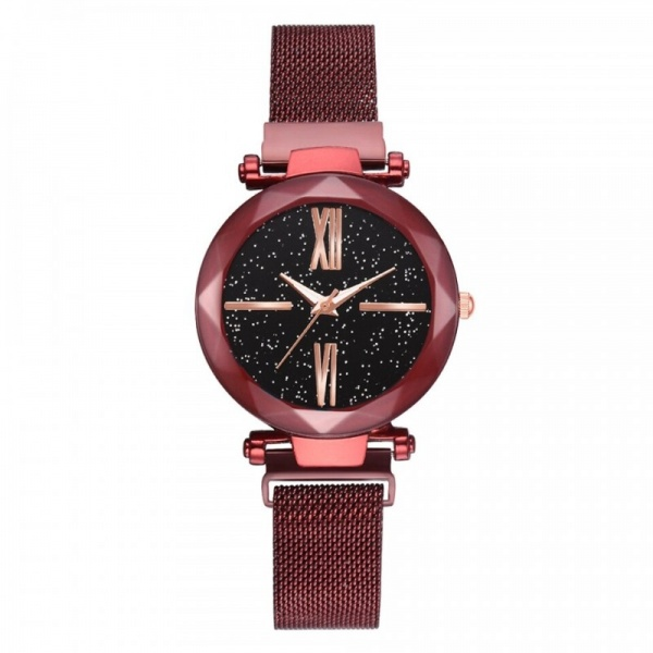 Ceas Lux05 Luxary Diamond Roman Red