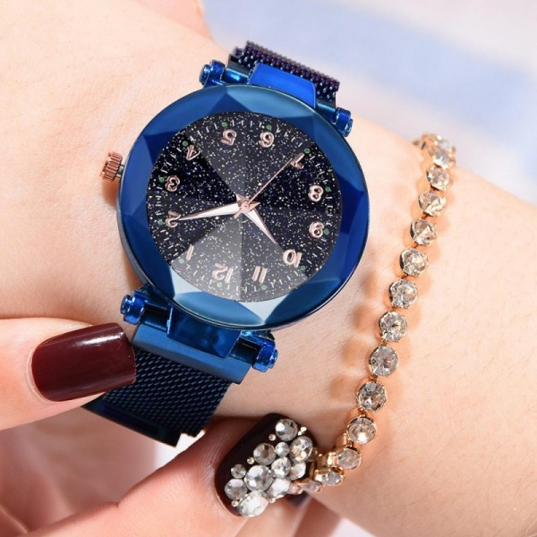 Ceas Lux13 Luxary Diamond Numbers Blue